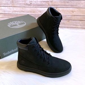 "Timberland Black Londyn 6"" Lace Up Sneaker Boots"